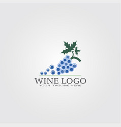 Wine logo template logo for business corporate vector