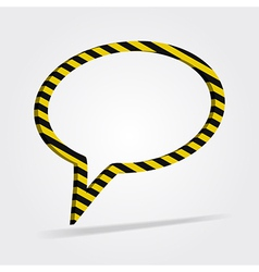 Yellow and black striped speech bubble vector
