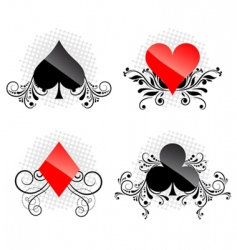 decorative card symbols vector image