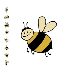 Funny bee sketch for your design vector image vector image