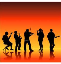 music band vector image