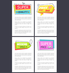 super quality and best sale on vector image