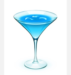 blue cocktail vector image