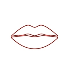 Cool Sexy Lips vector image vector image