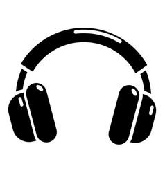 headphones icon simple style vector image
