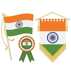 india flags vector image vector image
