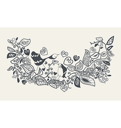pattern of bird in the forest vector image