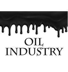 poster for oil and gas industry vector image vector image