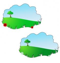 season summer and spring vector image