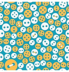 Sewing seamless with buttons vector image vector image