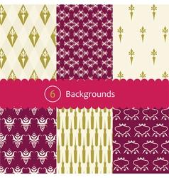 vintage patterns vector image vector image