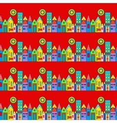 city and urban with houses vector image