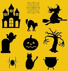 Halloween decor set vector image vector image