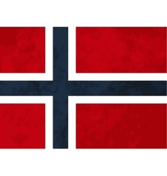 True proportions Norway flag with texture vector image