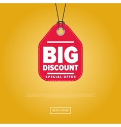 Big discount isolated sale sticker vector image vector image
