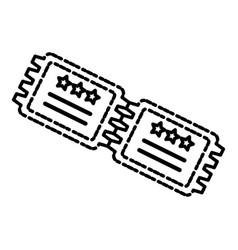 cinema ticket isolated vector image
