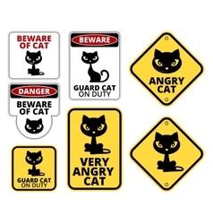 Danger cat vector image