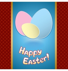 Easter card with eggs for greeting vector image vector image