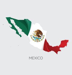 map of mexico vector image vector image