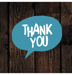 thank you word on wooden texture vector image vector image