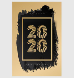 2020 happy new year celebration poster vector image