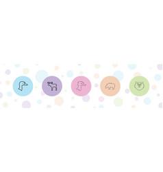 5 canada icons vector
