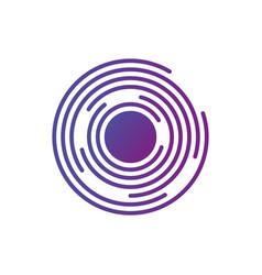 Abstract hi-tech segmented geometric circle shape vector