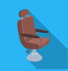 armchairbarbershop single icon in flat style vector image