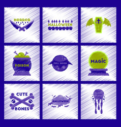 Assembly flat shading style icon halloween vector