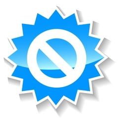 Ban blue icon vector