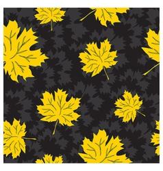 Beautiful seamless autumn background vector image