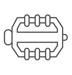 Bicycle pedal thin line icon bicycle parts vector
