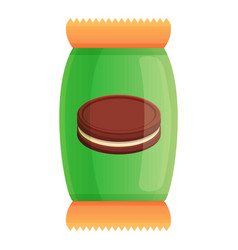 Biscuit bar icon cartoon style vector