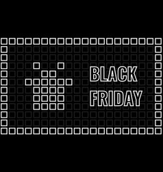 black friday advertising banner mosaic card with vector image