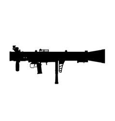 black silhouette rocket launcher vector image