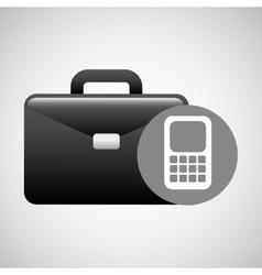 briefcase technology icon vector image