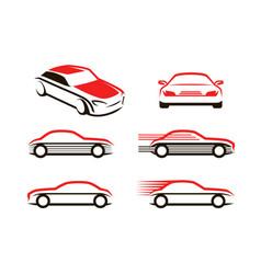 Car icons set transport automobile symbol vector