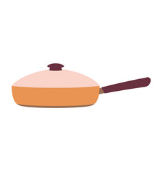 Cartoon frying pan isolated on white vector