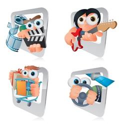 Cartoon Smartphone Applications Clipart vector image