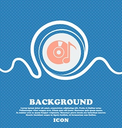 CD or DVD icon sign Blue and white abstract vector