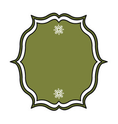 Christmas traditional frame icon vector