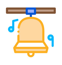 Church bells icon outline vector