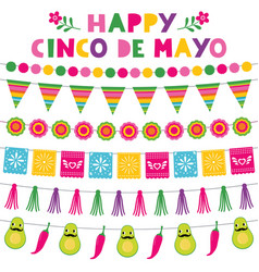 cinco de mayo national mexican holiday party vector image