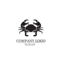 crab silhouettes on the white background icons vector image