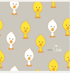 Cute yellow chicken vector