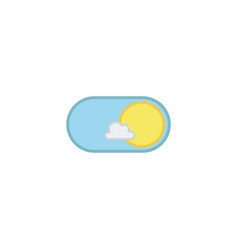 Day mode application icon vector