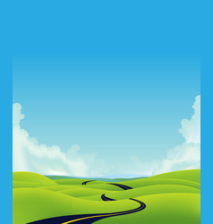deep country road landscape vector image