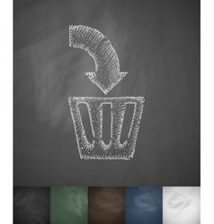 delete icon Hand drawn vector image