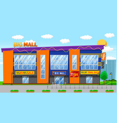 Discounts sale in big mall sale holiday vector