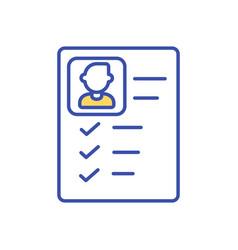 Employee job application rgb color icon vector